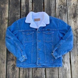Wrangler sweater Sherpa Denim Jacket